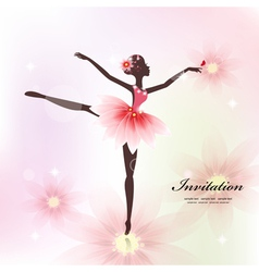 Ballerina Invitation Card vector image vector image