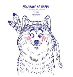 Husky cute vector image vector image