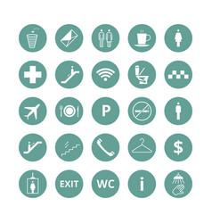 public place navigation icons toilet vector image