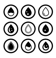 round icons drop set vector image vector image