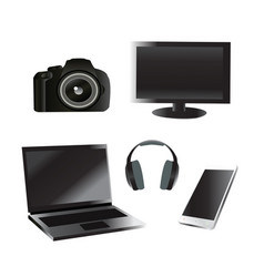 set of electronic device vector image vector image