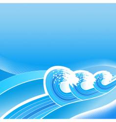 summer business waves background vector image vector image