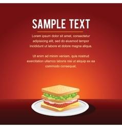 Fast Food Restaurant Menu Card Design vector image