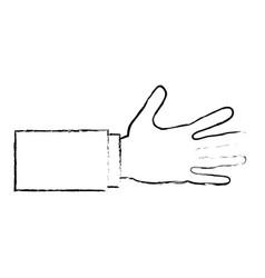 hand human shake isolated icon vector image