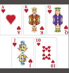 royal faces vector image
