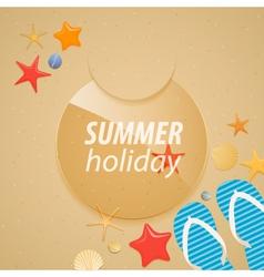 Summer holidays sticker vector image