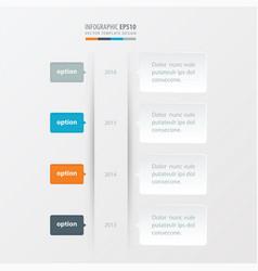 timeline template orange blue gray color vector image