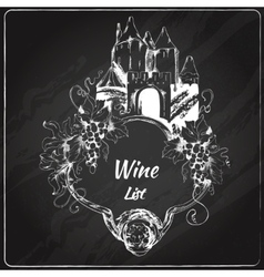 Wine list chalkboard label vector image vector image