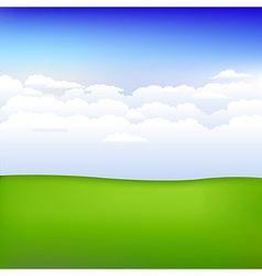 Background With Landscape vector image vector image