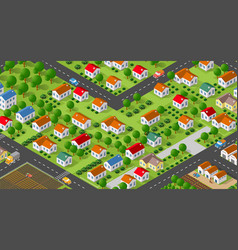 country village district vector image