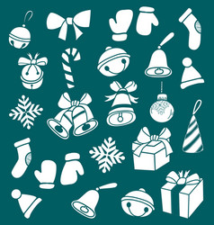 dooddle christmas elements vector image vector image