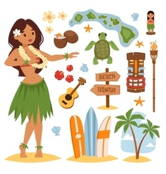 Hawaii set vector image