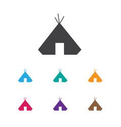 Of camping symbol on refuge vector