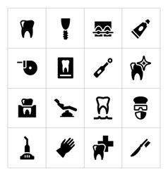 Set icons of dental vector image