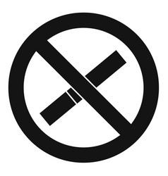 sign prohibiting smoking icon simple style vector image vector image