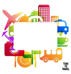 Time to travel travel-ling on holiday journey vector image vector image