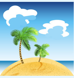 tropical sea landscape summer beach with green vector image
