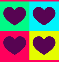 a set of hearts in bright colors set vector image