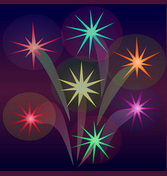 Abstract fireworks in the form of stars vector