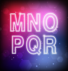 Abstract Font M-R vector