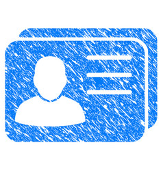 account cards grunge icon vector image