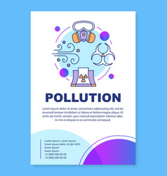 Air pollution poster template layout vector
