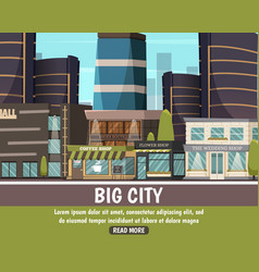 Big city urban landscape vector