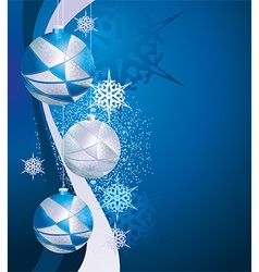 Blue Sparkling Christmas Background vector