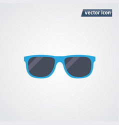 Blue sunglasses vector
