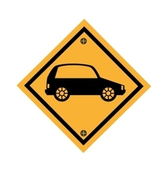 Car parking signal icon vector