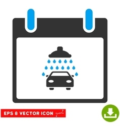 Car Shower Calendar Day Eps Icon vector