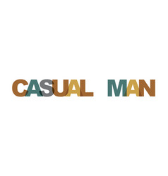 casual man business card text modern lettering vector image