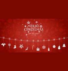 Christmas composition garland holiday vector