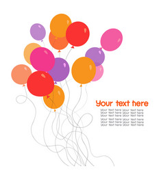 Colorful bunch of balloons vector
