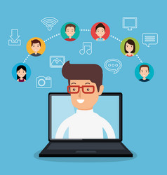 community social media people vector image