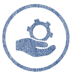 Engineering service fabric textured icon vector