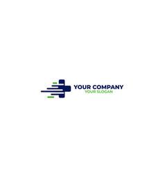 fast medical logo design vector image