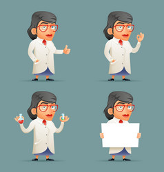 female professor expert scientist genius character vector image