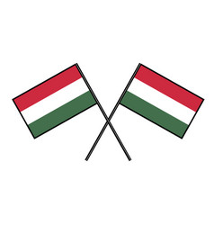 Flag of hungary stylization of national banner vector