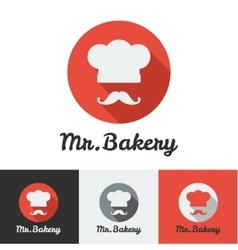 Flat bakery or restaurant minimalistic logo vector