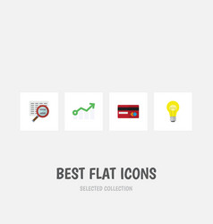 Flat icon incoming set of growth bubl payment vector