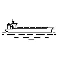 flat linear dry cargo or bulk carrier ship vector image
