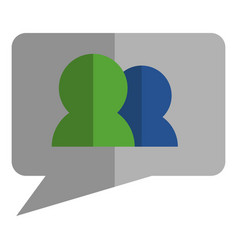 Friend request icon on a bubble chat vector