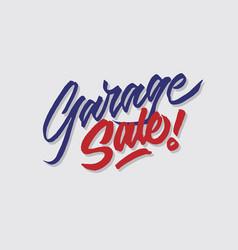 Garage sale hand lettering typography vector