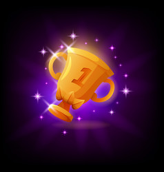 Gold cup trophy gui gaming or mobile app icon vector