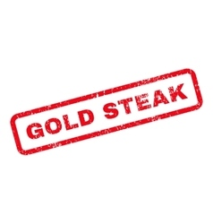 Gold Steak Text Rubber Stamp vector