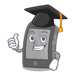 Graduation ipad isolated with in character vector