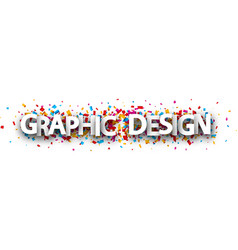 Graphic design banner with colorful confetti vector