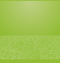 Green japanese ornament vector