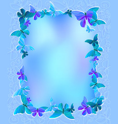Greeting card with beautiful butterflies vector